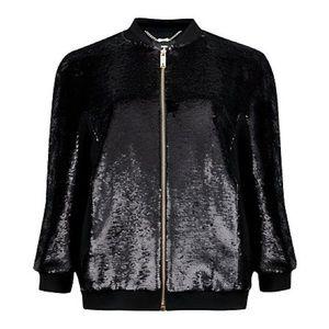 Ted Baker London 'Brosina' Sequin Bomber Jacket